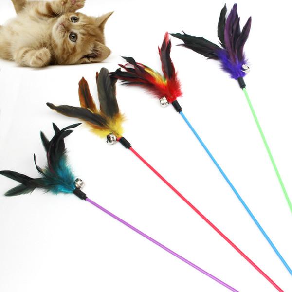 Divertente gatto Giocattoli gatto Teaser Turchia Piuma gatto graffiare giocattoli piuma giocattolo Cibo Palla per gatti graffiare Giocare Allenamento