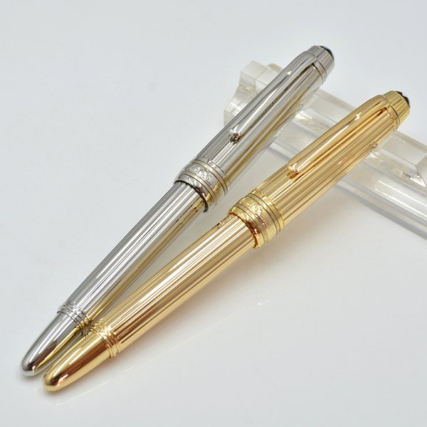 Luxury Mini stationery Office school supplies Monte brand cute write ink pens Metal Stripe Rollerball fountain pen with fine carving