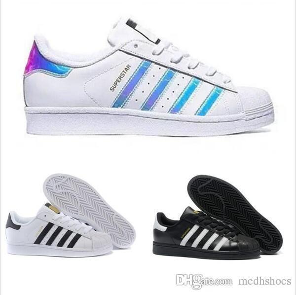 2019 Originals Superstar White Hologram Iridescent Junior Superstars 80s Pride Sneakers Super Star Donna Uomo stan smith Sport Scarpe casual