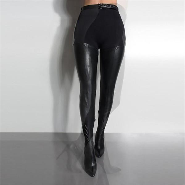 Moda Rihanna Kasık Uyluk Yüksek Topuklu Çizmeler Seksi bayanlar Diz Çizmeler Üzerinde Kuşaklı Ince Yüksek Topuklu Stieltto Ayakkabı Kadın Siyah