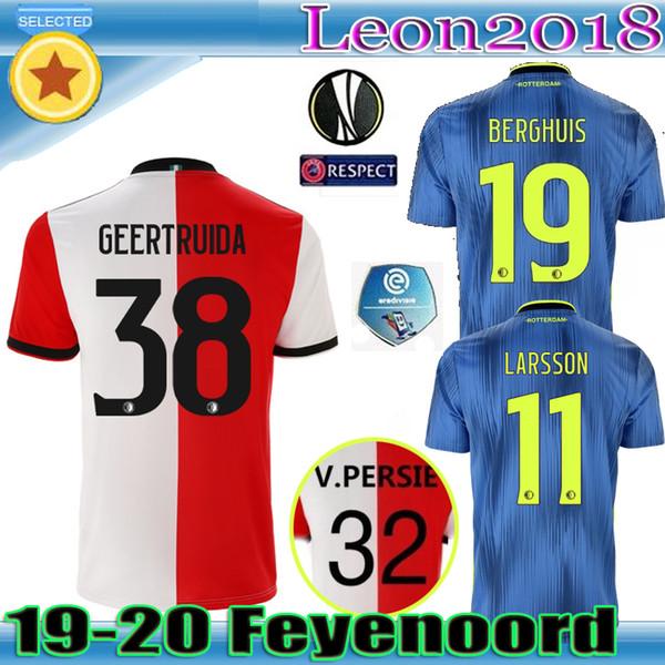 Thailändische Qualität 19 20 Trikots von Feyenoord auswärts 2019 2020 LARSSON V.PERSIE BERGHUIS VILHENA Fußballtrikot Unterhemd Fußball