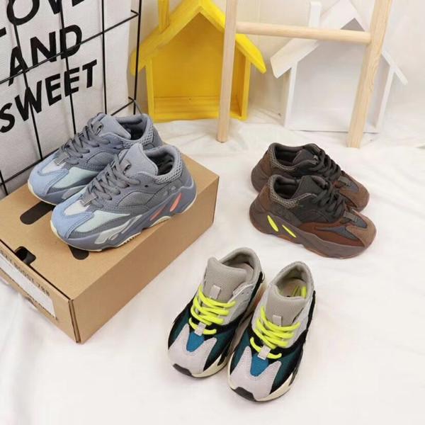 2019 yeni moda net nefes kahverengi eğlence spor koşu ayakkabıları kızlar için özel marka erkek çocuklar için renk ayakkabı
