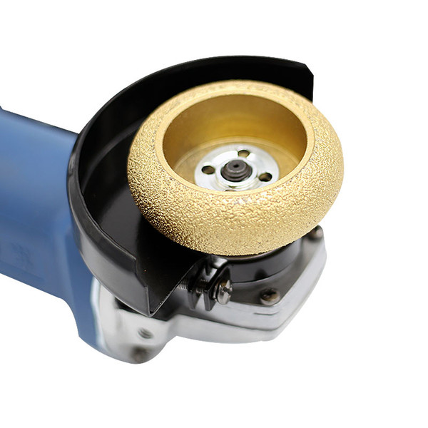 best selling Roman column semi-circular concave grooved Angle grinding machine grinding stone wheel head gold steel stone