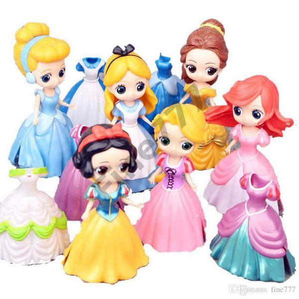 Muñecas de 11 cm con biberón American PVC Kawaii niños juguetes figuras de acción de anime muñecas realistas renacidas para niños juguetes niñas lol