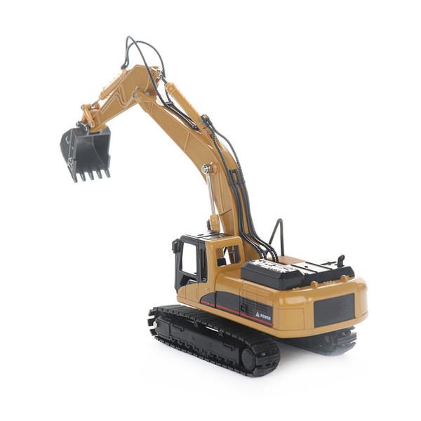 Chegada Nova Moda Mini Alloy Diecast Escavadeira Modelo Crianças Construção Educação Toy Ornament Entretenimento Para Todos