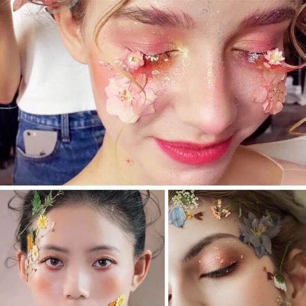 1 Tasche Geprägte Natürliche DIY Getrocknete Blumen Makeup Tools Raumdekoration Geburtstag DIY-Geschenk Karte dekorative Blumen