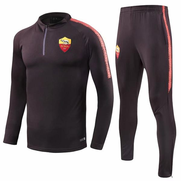 NEW 2018 2019 Roma jacket tracksuit Survetement Chaqueta de fútebol 18 19 Rome TOTTI ROSSI DZIKO football jacket sportswear Training suit
