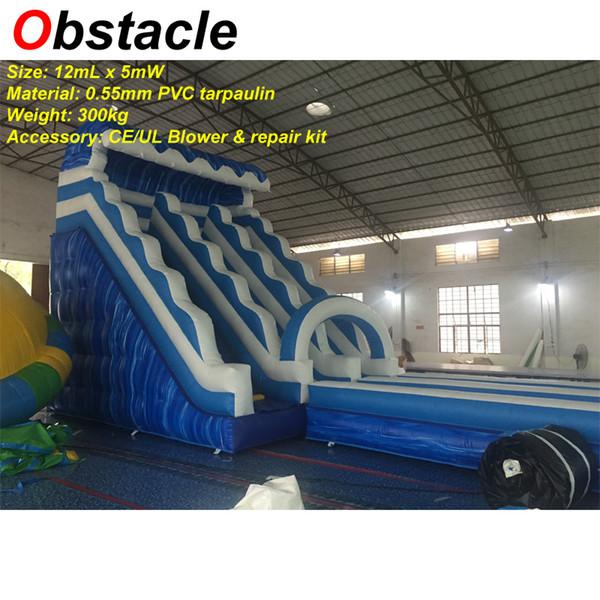 Gli adulti su misura Kids adulti dimensioni 12mLength scivolo gonfiabile con piscina gigante gonfiabile per adulti giocattoli gonfiabili per la festa aziendale noleggio