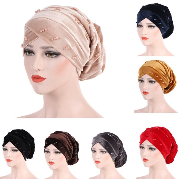 Turban Cap For Women Cancer Head Wrap Scarf Chemo Hair Loss Flower Stretch Head Casual Women Bandana Muslim Hats