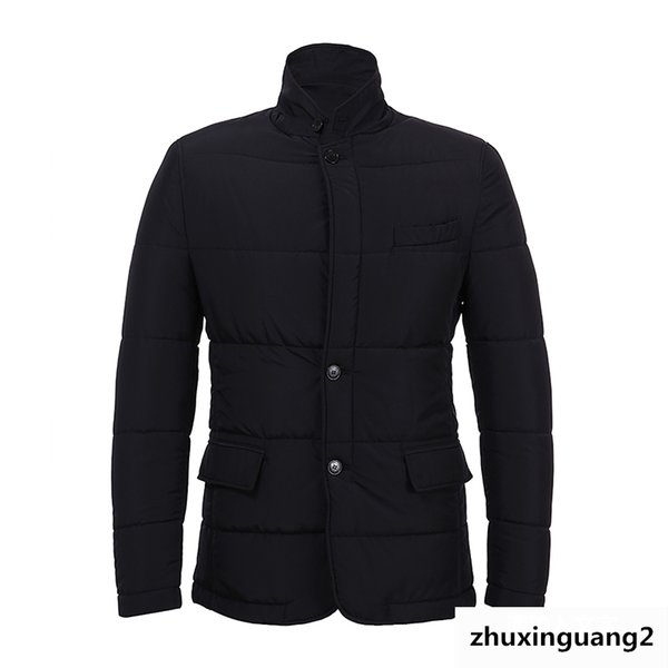 Collection Men's Wear Stand Lead Business Affairs Leisure Time Cotton-padded Clothes Cotton Short Loose Coat