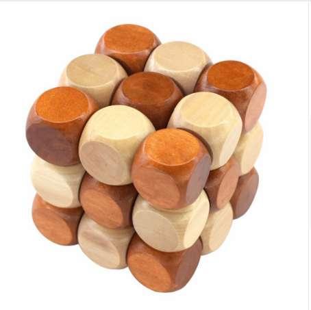 3D Holz Puzzle Neuheit Spielzeug Magic Cube Pädagogisches Gehirn Teaser IQ Mind Game Für Kinder Erwachsene Schlangenform
