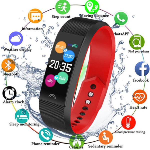 Smart Bracelet F6 Sports Heart Rate Monitor Waterproof Fitness Tracker Bluetooth Watch Band for Android IOS Wristband