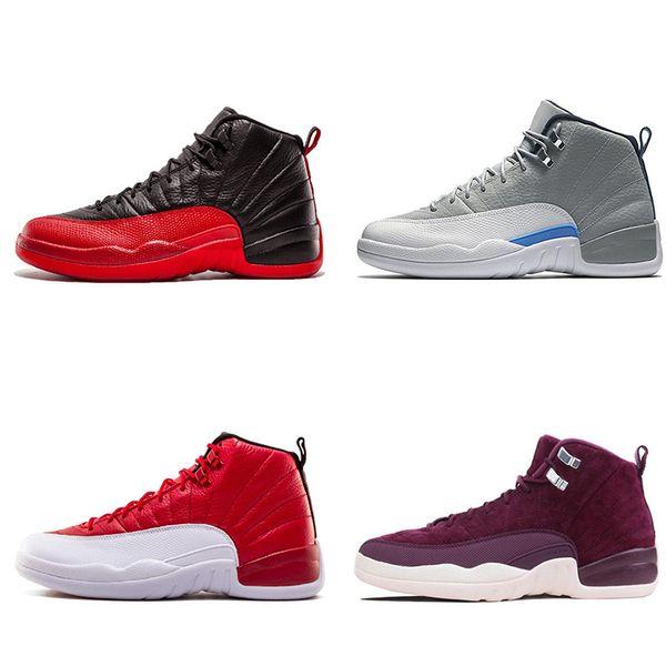 YENI SATıŞ tasarımcı ayakkabı 12 Basketbol UNC 12 S Sneakers OVO Ayakkabı Mens Chicago donanma Bulls Kırmızı Usta Eğitmenler Beyaz Gym Spor Ayakkabı 7-12