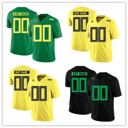 wholesale dealer 73ca9 c4e83 2019 Custom Men Women Kid Oregon Ducks College Football Jersey White Black  Apple Green Yellow Lightning Stitched Mariota Herbert Football Shirts From  ...