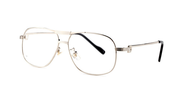 Luxury sunglasses designer brand pilot shape eyeglasses top bar mens womens slim metal buffalo horn glasses with red box and clear lenses