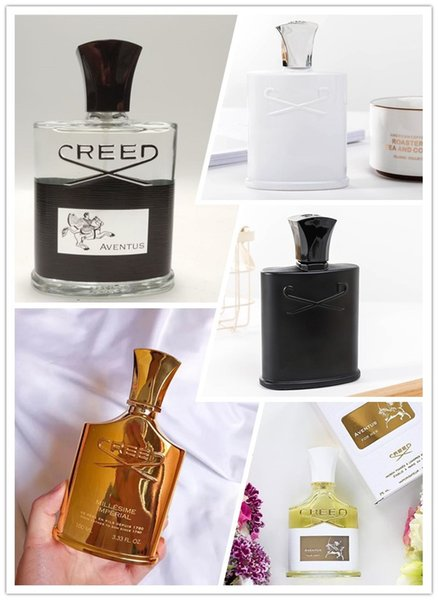 In magazzino Creed Aventus 120ML Silver Mountation Acqua 120ML Verde Irish Tweed Profumo Millesime Imperial Aventus per lei Spedizione gratuita
