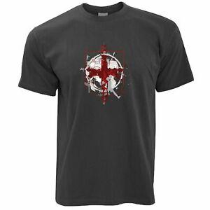 World Cup T Shirt England Flag Football Crest Of Arms Soccer League Sports