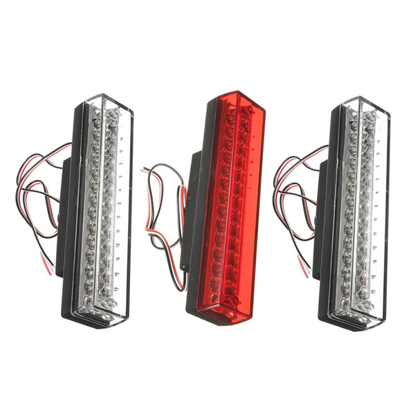 Hot CHMSL Car 12V Universal 26 LEDs Brake Warning Strobe Lamp Light Red /Blue / White Waterproof