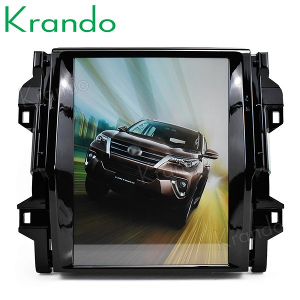 """Krando Android 7.1 10.4"""" Tesla Vertical touch screen car dvd radio player for Toyota Fortuner 2016+ navigation system bluetooth"""