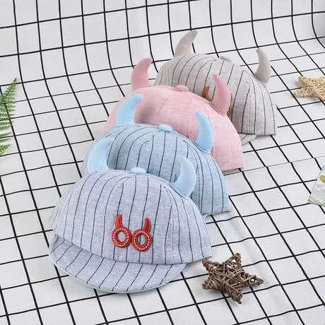European and American hip hop children's hat spring and summer household breathable sunscreen wild embroidery baby comfortable cute mesh cap