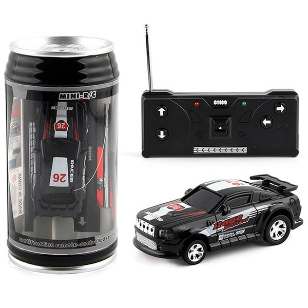 1/63 Mini RC High-Speed Drifting Off-Road Car Pull-Ring Can Toy Gift For Children Remote Control Toy With LED Light Mini RC Cars