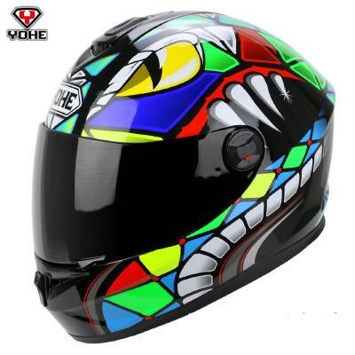 Nueva llegada YOHE casco de motocicleta 966 casco de la cara llena de invierno para los hombres y las mujeres muchos colores eligen