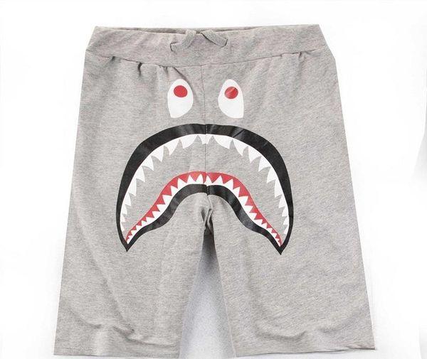Yaz Erkek ler Köpekbalığı Pantolon Şort Pamuk Siyah Gri Nedensel Şort Erkekler Rasgele Kamuflaj Kaykay Kısa Pantolon Serbest Streetwear Ücretsiz Kargo
