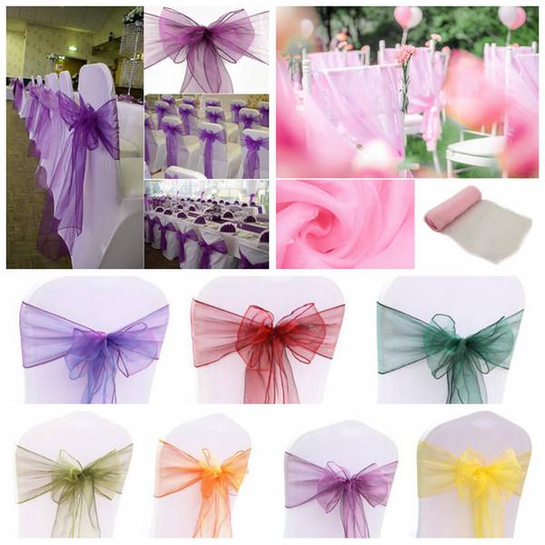 organza chair sashes bow sash multi color chair ribbon wedding rh m dhgate com