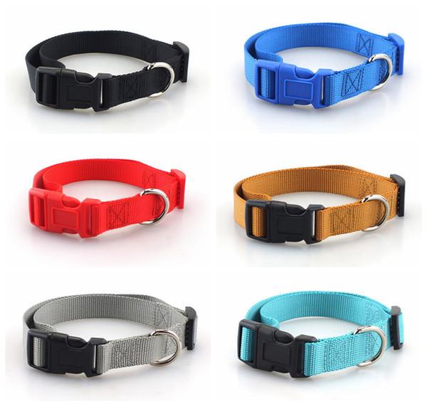 Collana pet in nylon di alta qualità con collare per cani 6 colori collana cane piccola taglia media prodotti per cani TTA 50