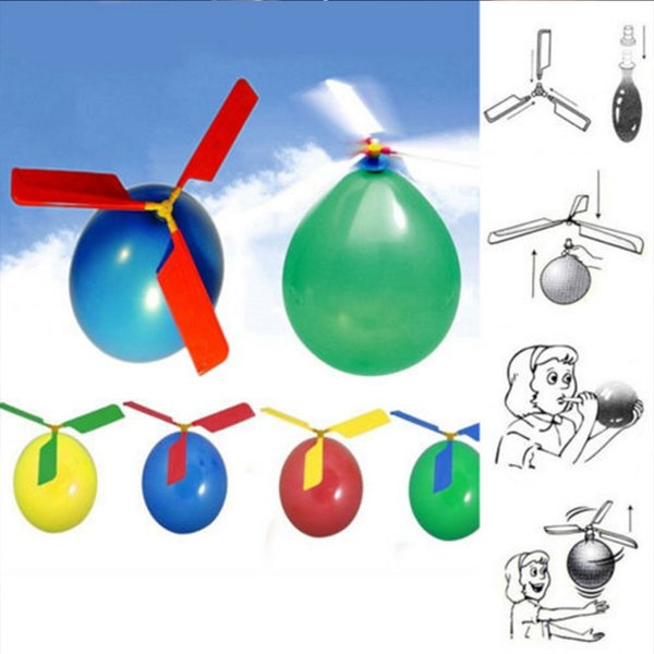 Flying Balloon Helicopter DIY balloon airplane Toy children Toy self-combined Balloon Helicopter free shipping Free Delivery