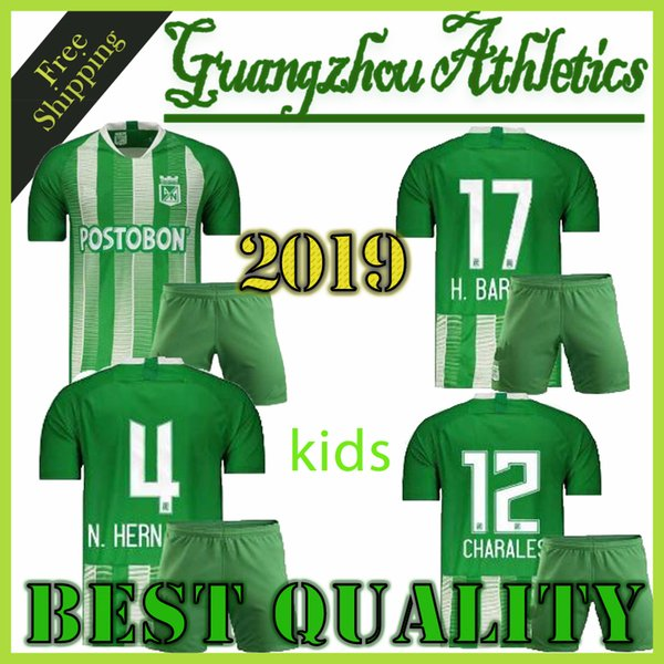 2019 Atletico Nacional Medelli Copa Libertadores Home Soccer Jersey T shirt