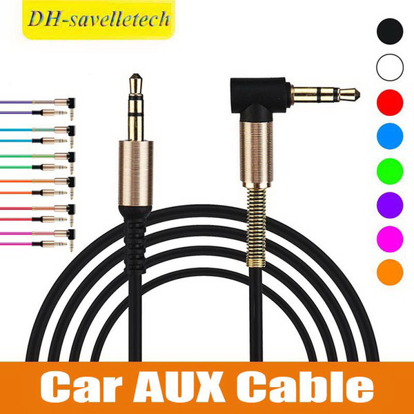 Cable de audio Jack de 3,5 mm Cable de audio de coche macho a macho Cable auxiliar de 90 grados en ángulo recto Cable de audio AUX estéreo para computadora Teléfono altavoz
