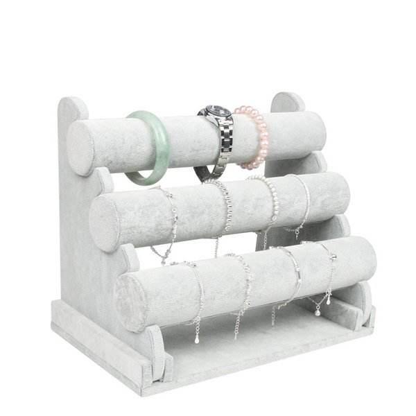 Removalbe 3 Tier Bracelet Display Jewelry Organizer Holder Stand Bangles Jewelry Display Holder Storage Watch Stand