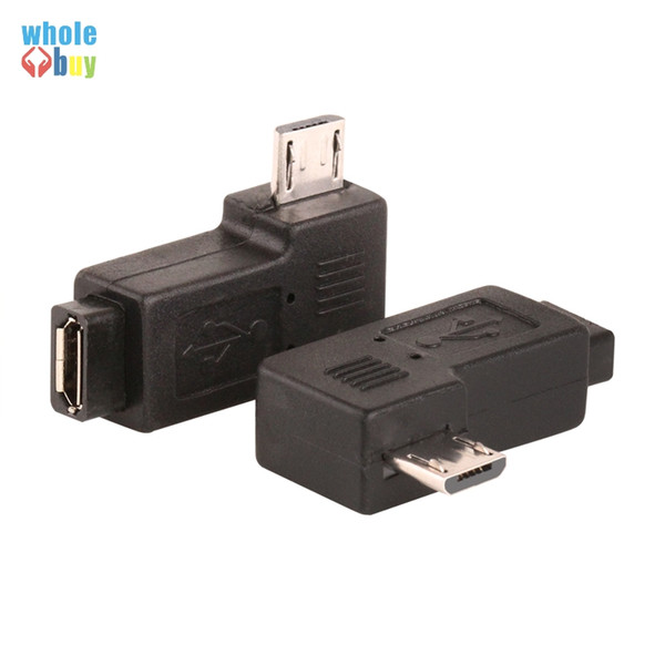 Pair Right Left Angle Micro USB 2.0 Male 90 Degree USB Male to Micro 5Pin Female Plug Adapters Hot Worldwdie 300pcs/lot