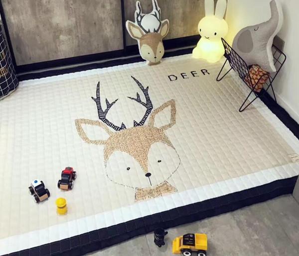 Infant Play Mats Kids Crawling Carpet Floor Rug Baby Bedding Carpet Blanket Cotton Game Pad Children Room Decor