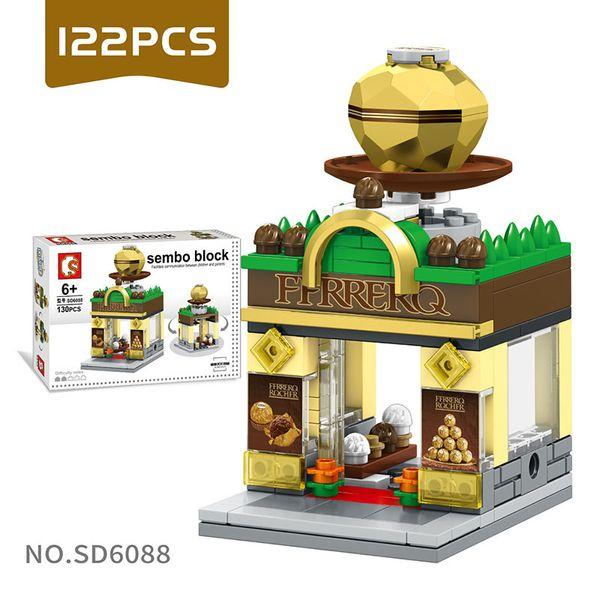 DIY Mini World Little Shop Series City Building Blocks Mini blocks Children's Puzzle Toys for Age 6 Up