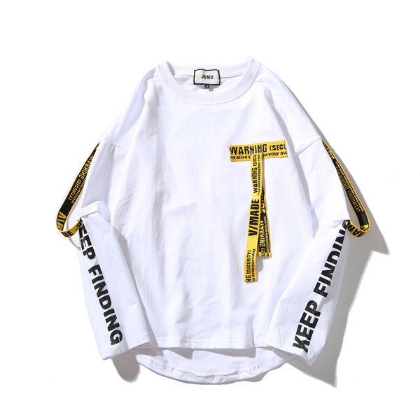 Branco Hoodies Amarelo