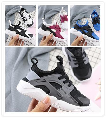 nike air huarache 4 2019 Yeni Çocuklar Için Hava Huarache 4 Sneakers Ayakkabı Erkek Kız Otantik Tüm Beyaz Çocuk Eğitmenler Huaraches Spor Koşu Ayakkabıları Boyutu 28-35