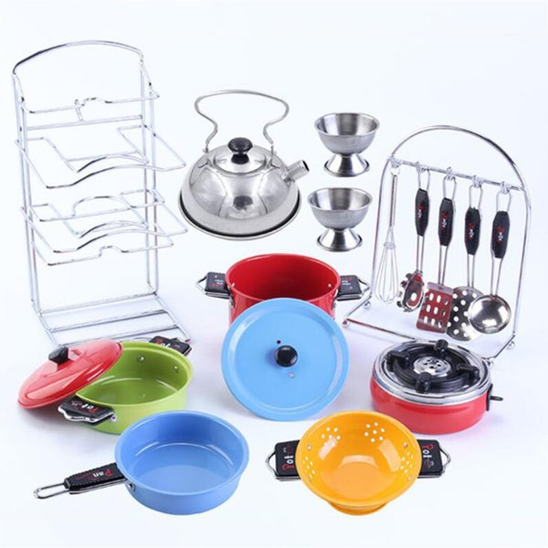 2019 Stainless Steel Play Pots &Amp; Pans Toy Playset For Kids Pretend Game  Cooking Utensils Kitchen Toys From Winddoll, $35.05 | DHgate.Com