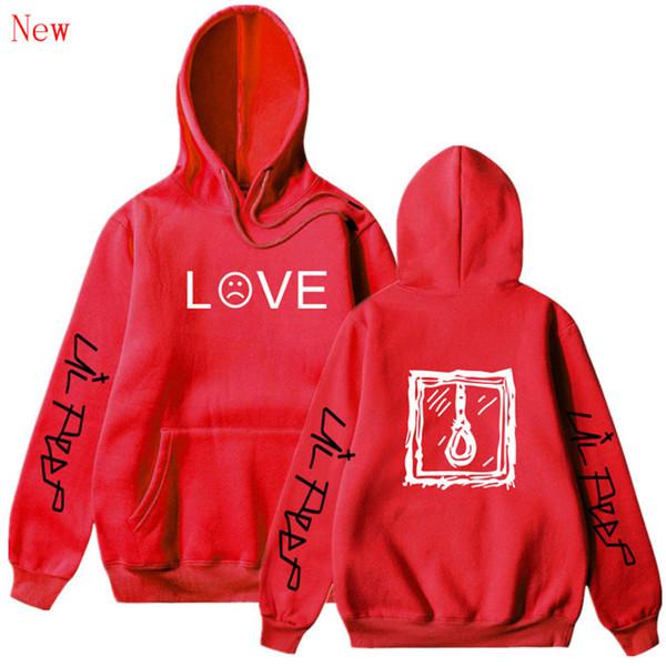 Lil Peep Hoodies Amor Lil.peep Sweatshirts Suéter Masculino Mulheres Preto Rosa Hip Hop Streetwear Grey Femininas Hoddie QJ5