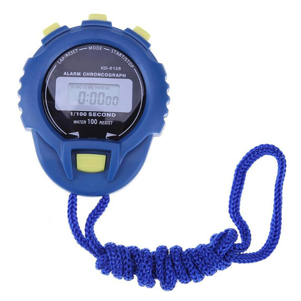LCD Chronograph Digital Timer Stopwatch Sport Counter Odometer Watch Alarm New Pratical Athletes Timer ABS Shell