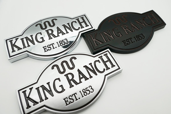 top popular KING RANCH EMBLEMS F150 F250 F350 F450 DOOR TAILGATE NAMEPLATE BADGE 2021