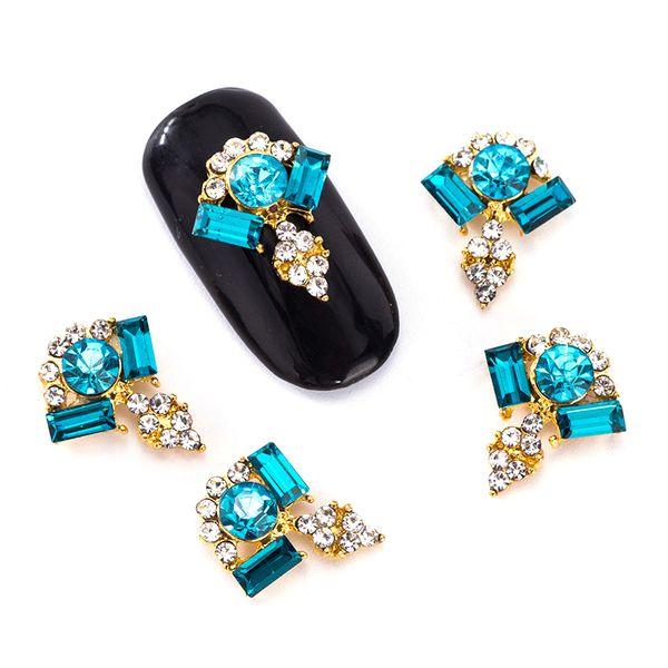 Blueness 10Pcs/Lot Crystal Bright 3D Nail Art Rhinestone 3 Color Glitter Crystal For Nails Art Mix Gem Beauty Nail Tools