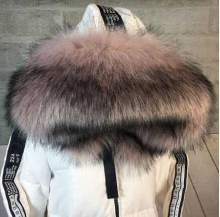 Autumn and winter women's Raccoon fur collar fox fur wool muffler scarf faux collar faux fur cape pashmina D19011004
