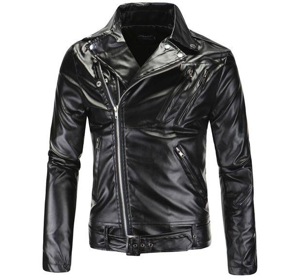 Compre Chaqueta De Cuero Para Hombre Múltiples Cremalleras Abrigo De Cuero Chaquetas De Hombres Ropa Personalizada Jaqueta De Couro Etapa Calle Moda