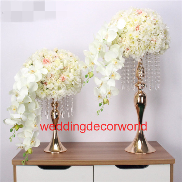 Customized wedding road lead props artificial table flower ball party hotel decor studio photo background silk flower ball stand decor0629