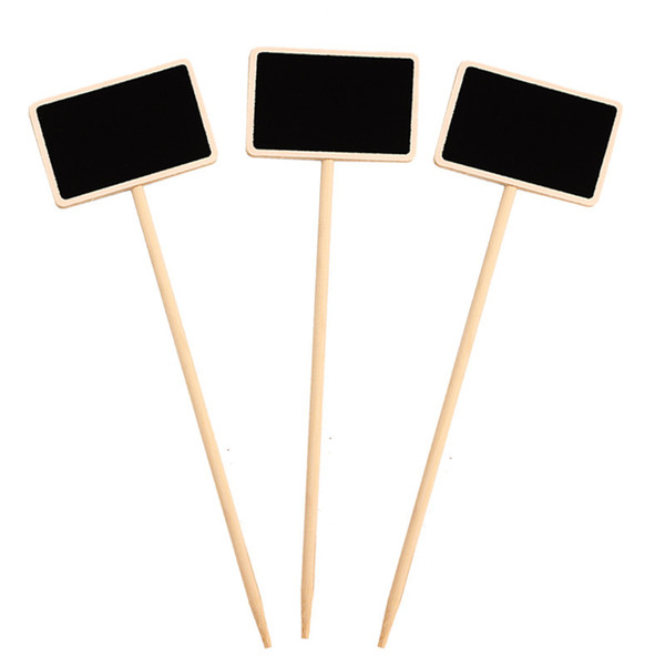 best selling Durable Mini Wooden Chalkboard Creative Blackboard Signs Garden Flowers and Plants Tags House Decorations Fast Shipping QW9965