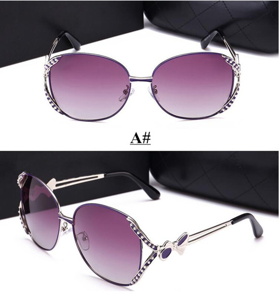 New Products in 2019 Women's High quality polarizing sunglasses Fashion Retro Glasses Brand Sunglasses Female driving Glasses 4colors
