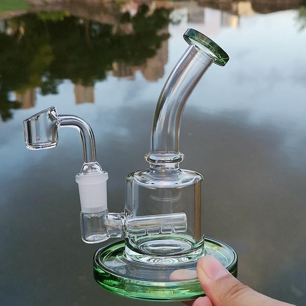 Green bong+quartz banger