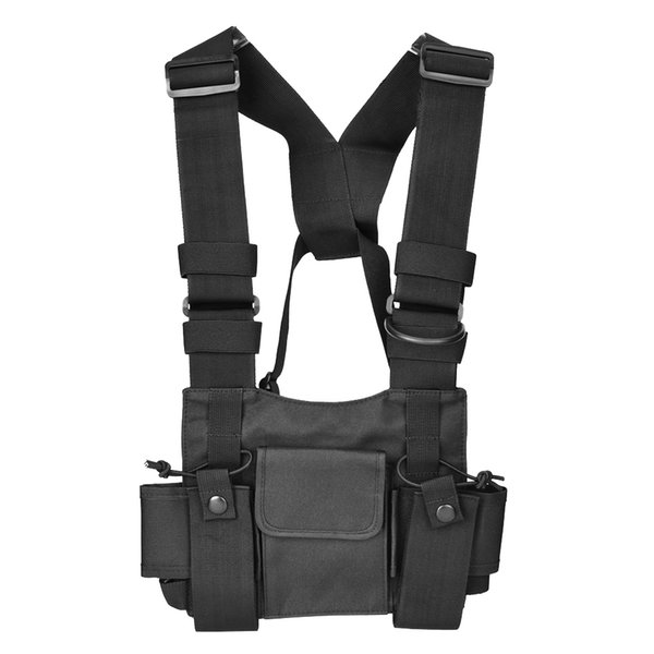 Walkie-talkie Backpack Chest Pocket Universal Nylon Bag Case for Two Way Radio High Quality